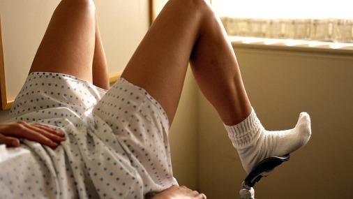 женщина на гинекологическом кресле